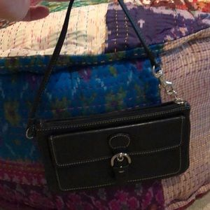 Coach clutch with small strap